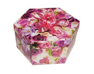 коробка шестигранная для бабочек