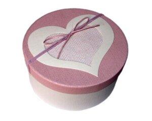 круглая коробка розовая для живых бабочек