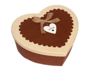 коробка сердце коричневое для бабочек