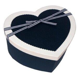 коробка сердце синее для бабочек живых