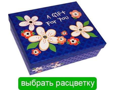 коробка в цветочек для фейерверка из бабочек