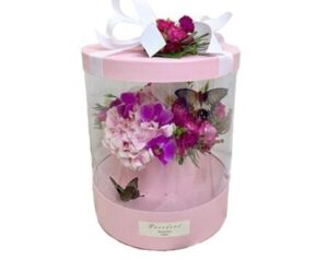 цветы в коробке с бабочками