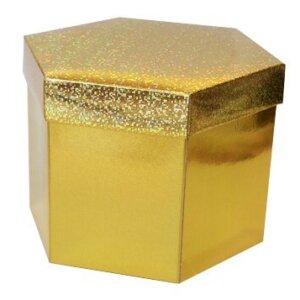 коробка золотой шестигранник
