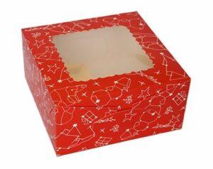 красная с окошком коробка для бабочек