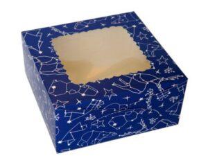 коробка для бабочек синяя с окошком