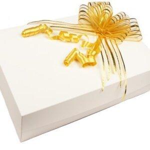 коробка для салюта из бабочек белая