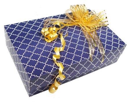 коробка для салюта из бабочек синяя